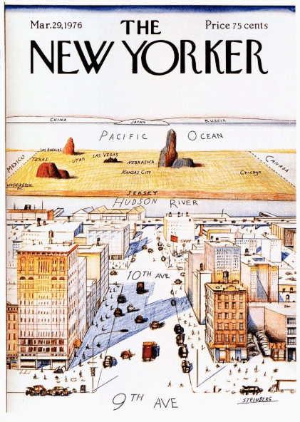 Saul Steinberg's Iconic 1976 Illustration For The New Yorker Magazine